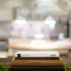 Schleifstein 1000/4000 Körnung mit rutschfester Holzstation aus Bambus & Silikonhalter