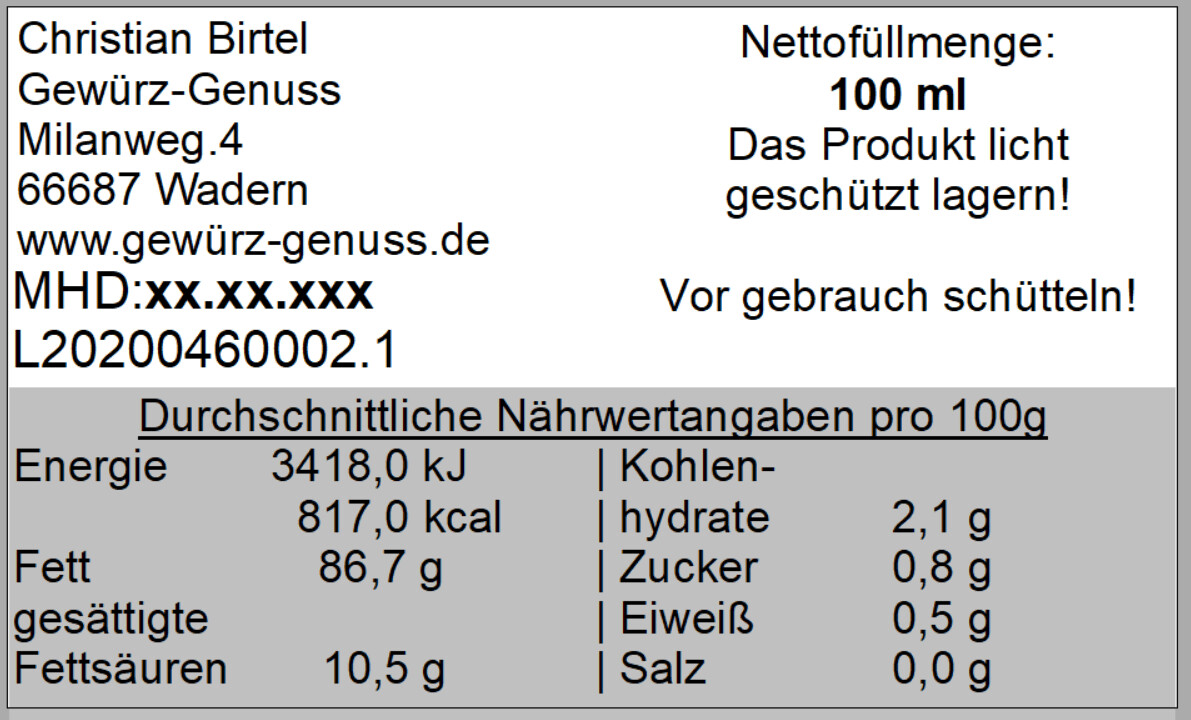 Chilli-Knoblauch-Öl