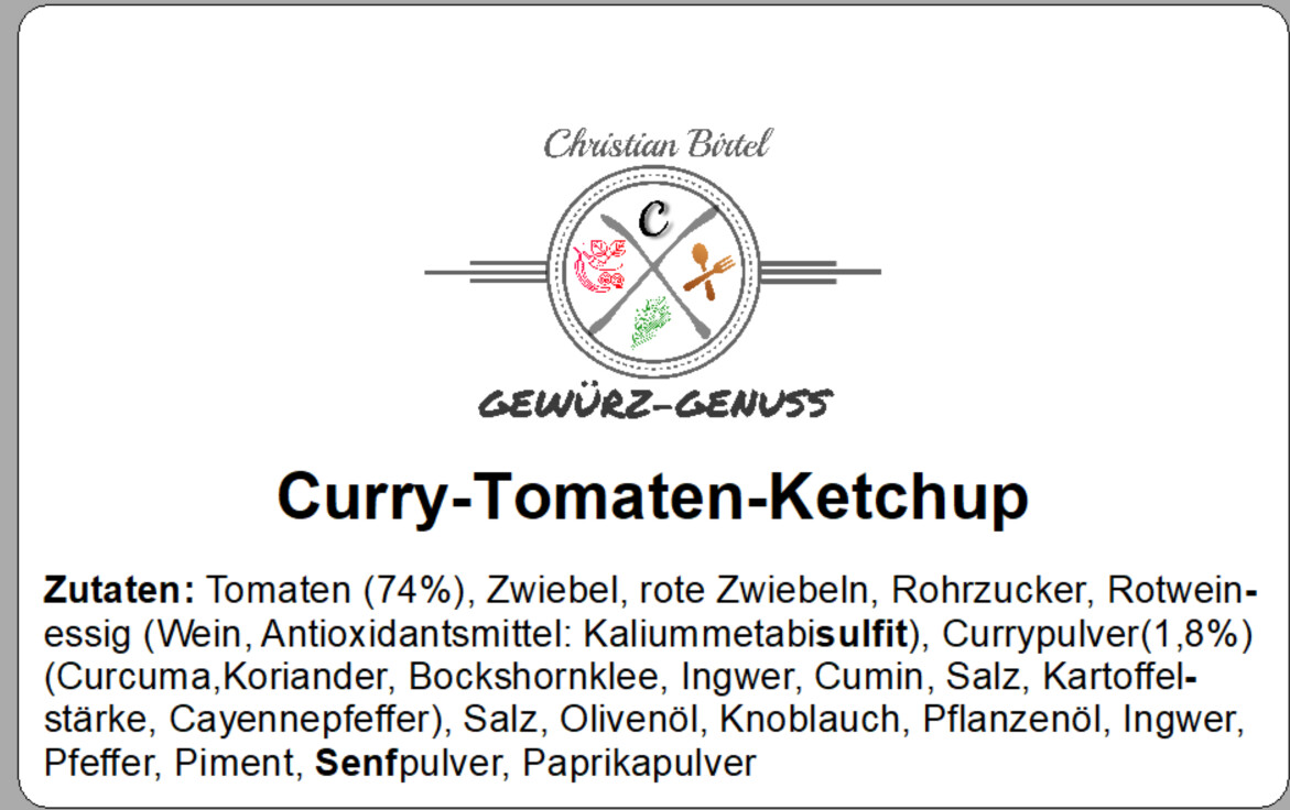Curry-Tomaten-Ketchup